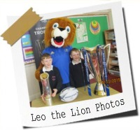 Click here to see photos of the children meeting Leo the Lion